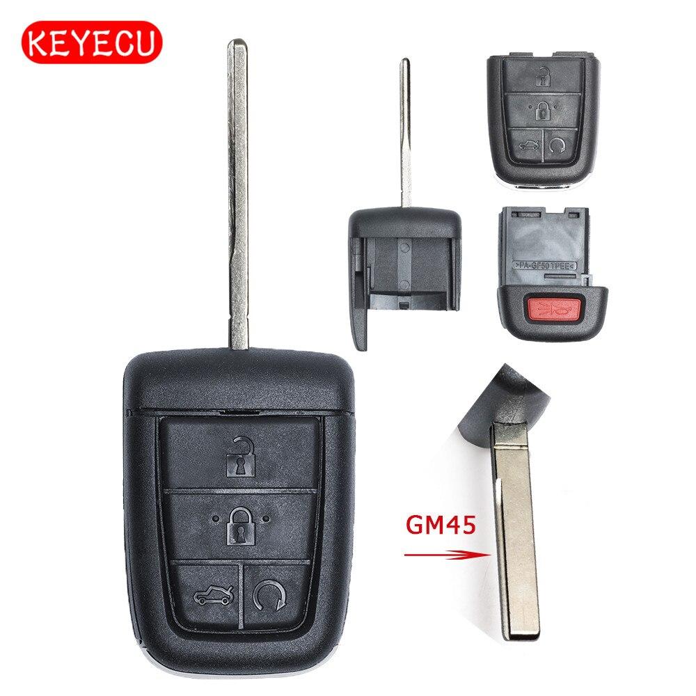 Keyecu ЧИПАМИ чехол 4 + 1 кнопка для Pontiac G8/Holden VE COMMODORE Omega Берлина Кале SS SV6 ВПГ GTS GM45 лезвие