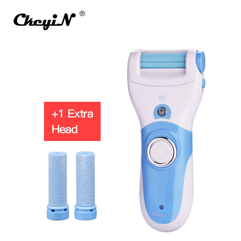 Electric Foot Heel Cuticles Remover + 4Pcs Roller Head Foot Care Pedicure Machine Express Dead Skin Removal Feet Care Tool 26 kemei callus remover foot care tool pedicure machine 2pcs roller electric foot heel cuticles shaver express dead skin removal