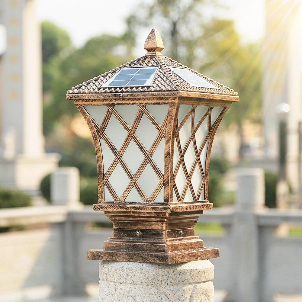 a coluna solar ilumina o tampao do cargo da jarda a prova dwaterproof agua e da