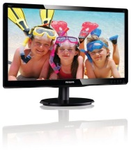 "Philips LCD monitor with LED backlight 200V4LAB2/00, 49.5 cm (19.5""), 1600 x 900 pixels, LCD, LED, 5 ms, Black"