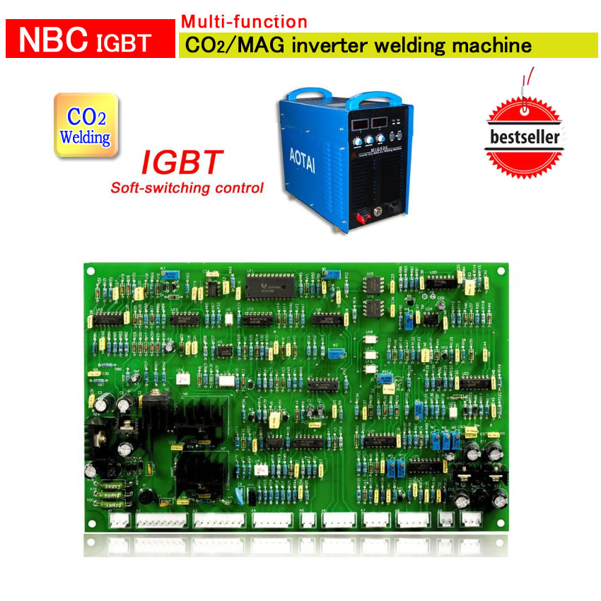 NBC 500 control board for co2 MIG IGBT  Inverter DC Welding Machines by soft-switching control 350/500 aotai free shipping mig mag welding torch spool gun nbc 200 200a without cable for stainless steel and aluminum welding