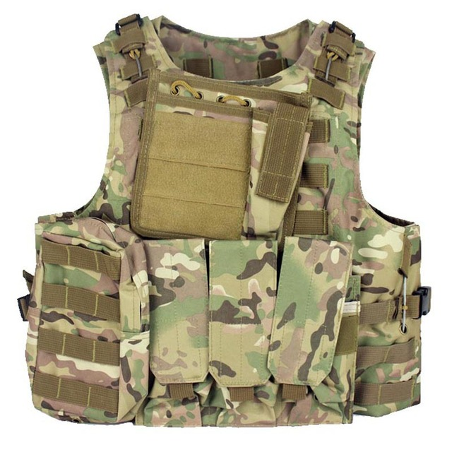 Military Armor Plate Carrier Tactical Vest Airsoft Gear Molle ...