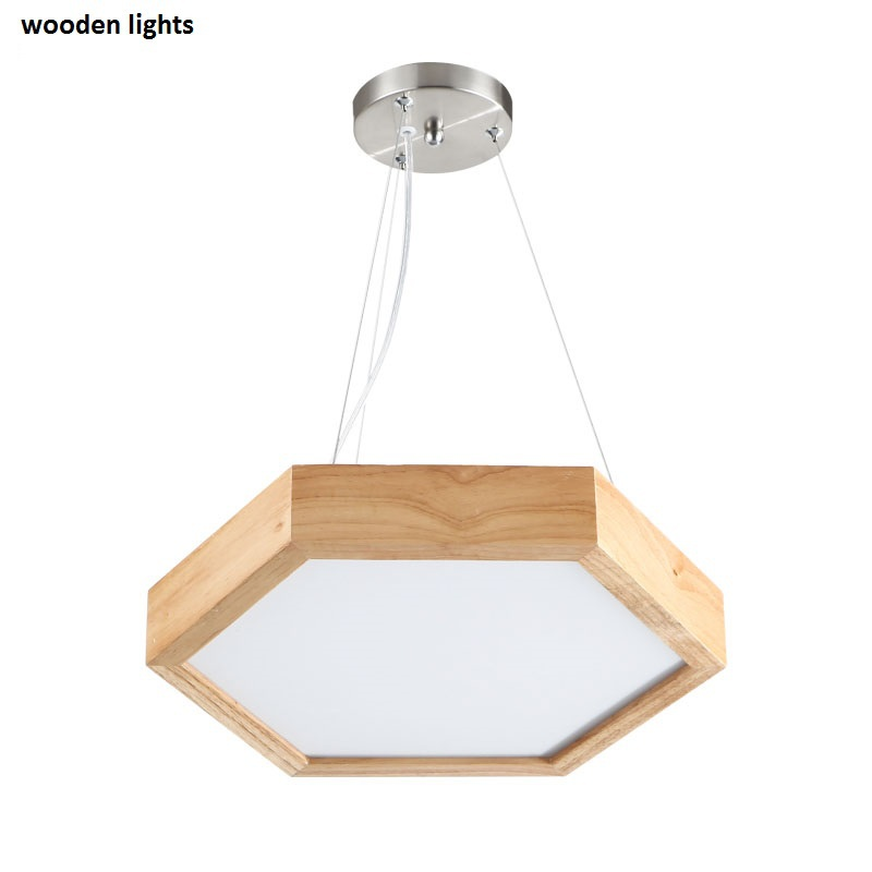 Northern American country Modern Creative  solid wooden chandeliers dia40cm /52cm hexagon rural  hotel bar wooden pendant lamps джойстик speedlink strike nx wireless ps3