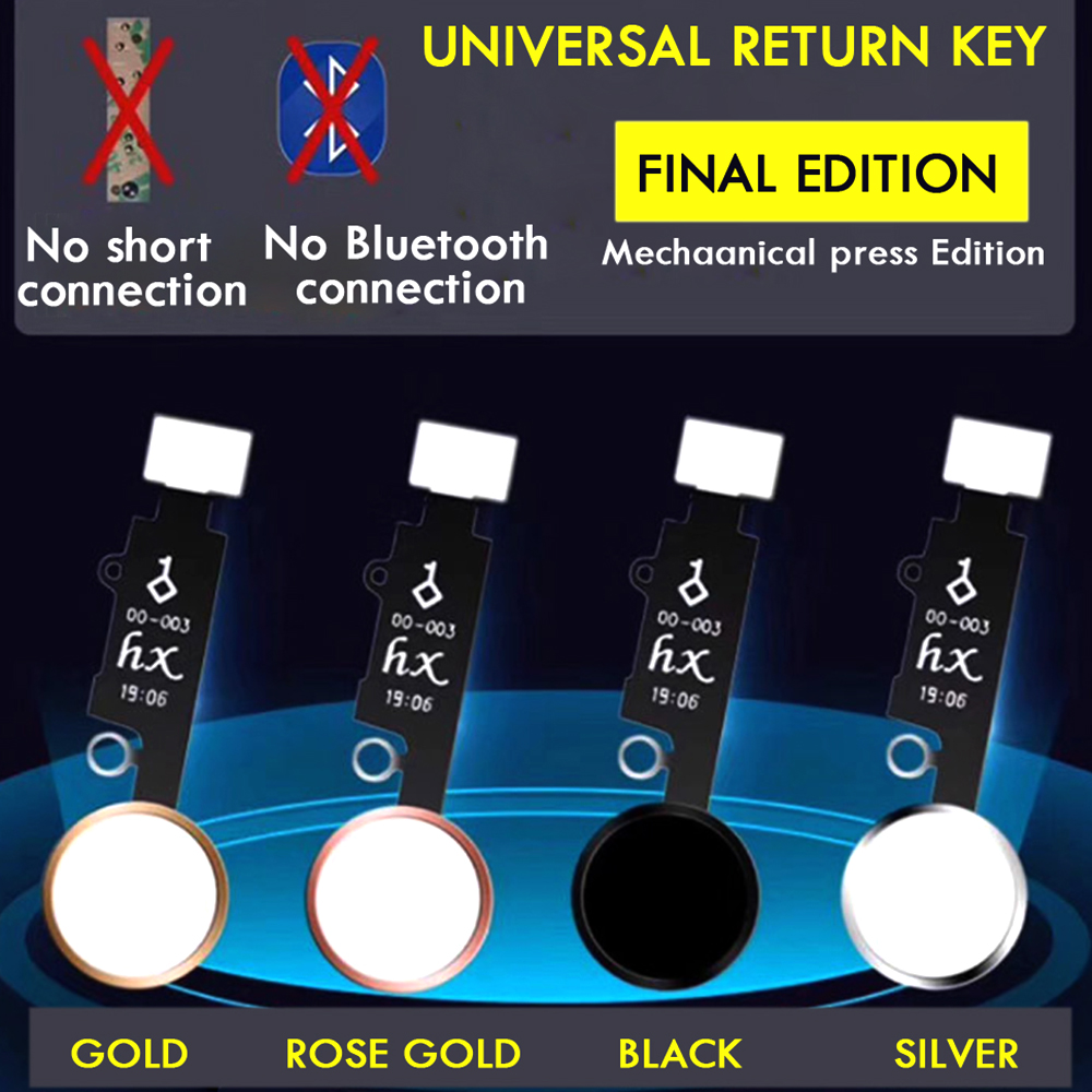 Mobile Phone Universal Home Button for IPhone 7/7P/8/8P Replacement Repair Parts Return Button Key No Touch ID No Need Bluetooth