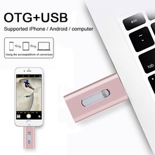 Multi-function USB Flash Drive 32GB OTG micro 2.0 Pendrive 64GB 16GB 128GB Metal Pen for iphone/ipad/pc/Android  phone