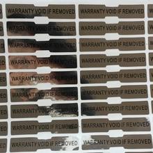 Seal Hologram Sticker Garantie Vervalt Indien Verwijderd Zilver Hologram 5X1 Cm Als Verwijdert, Laat Leegte. Gedrukt Holografische Verzegelde Stickers