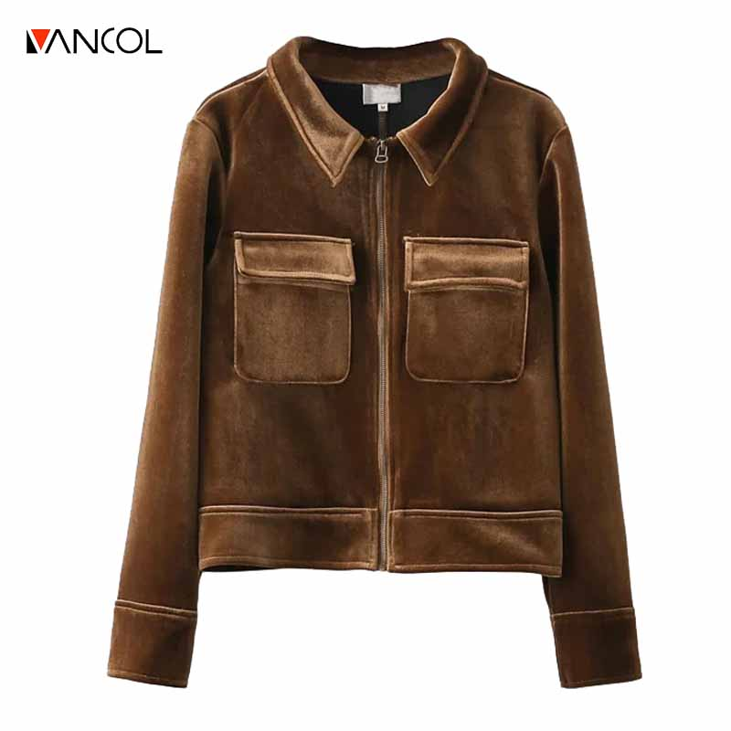 Online Get Cheap Womens Brown Bomber Jacket -Aliexpress.com ...
