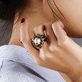 Alta Calidad Perlas de Agua Dulce Anillo con Zirconia Cúbico anillo de Regalo del Banquete de Boda Elegante Negro EE. UU. 6.7.8.9