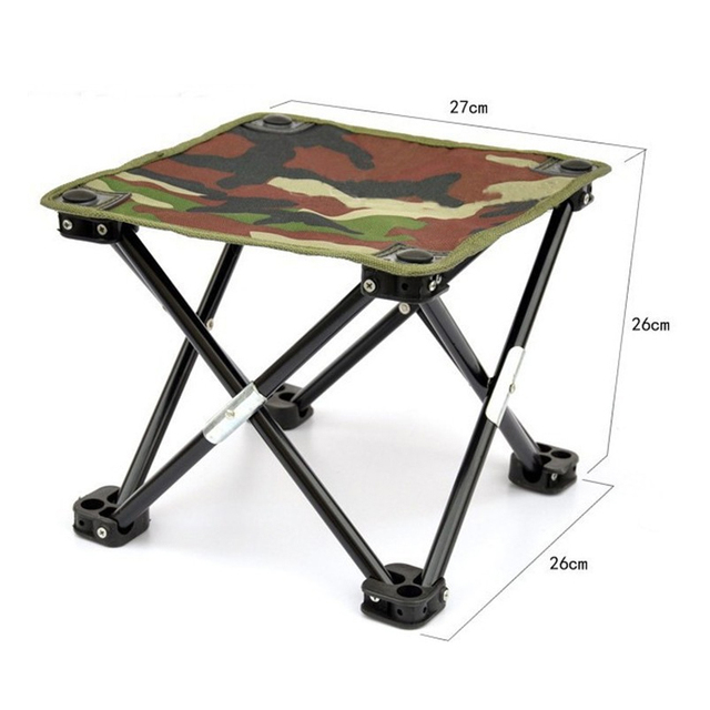 Portable Fishing Chair U0026 Stool Strong U0026 Light Camouflage Canvas + Foldable  Steel Structure Garden Beach