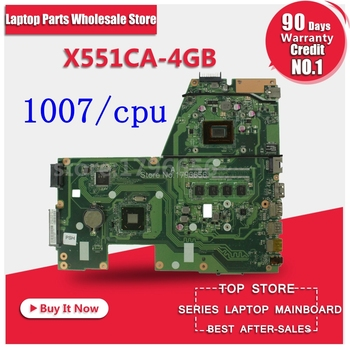 X551CA 1007U/CPU 4GB memory motherboard Mainboard For Asus F551CA R512CA X551CAP X551C laptop Full test Ok 60NB0340-MB1060