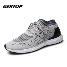 2016 Men Running Shoes Sneakers Breathable Mesh Trainers Sport Shoes Zapatillas EUR 39-44