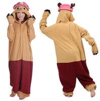 Adult Woman Người Đàn Ông Một Mảnh TonyTony Chopper Cosplay Costume Onesies Đồ Ngủ Animal Suits Mùa Đông Cực Fleece Pyjamas Ng