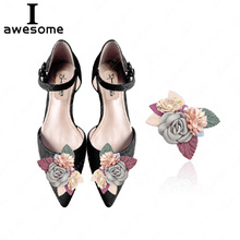 1pcs Flowers Bridal Wedding Party Shoes Accessories High Heels DIY Manual Pearl boots Shoe Decorations flower