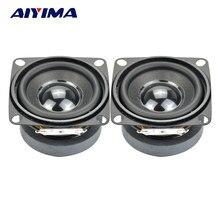 Alto-falante aiyima 2, 2 peças, subwoofer, hifi, Polegada 4ohm, 5w, alcance total, mini woofer, alto-falante de áudio diy