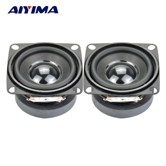AIYIMA 2 piezas Subwoofer de alta fidelidad 2 pulgadas 4Ohm 5 W altavoz de gama completa Mini altavoz altavoces de Audio Subwoofer altavoz