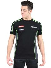 Free shipping 2017 MOTO GP Kawasaki Racing Team WSBK Panel T-shirt Black Racing Men's T-shirt