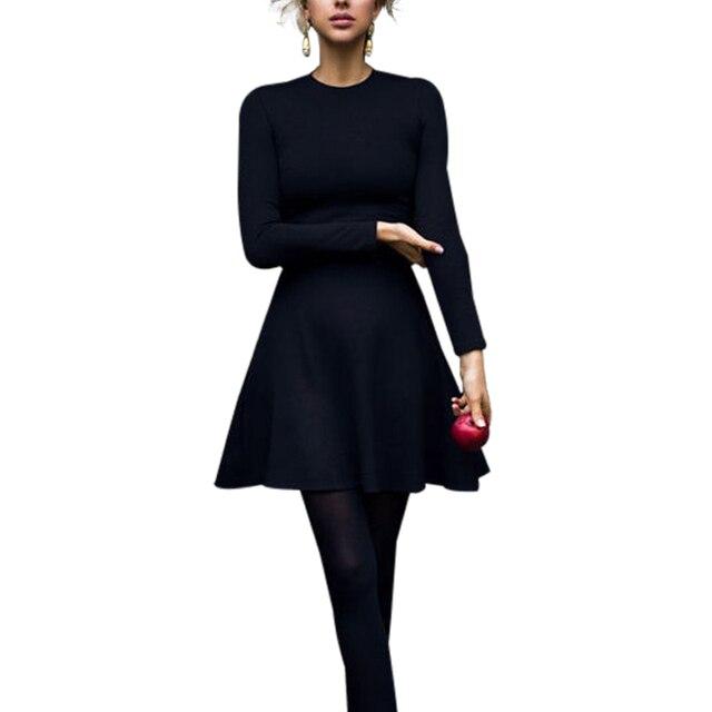 Для женщин с длинным рукавом Bodycon платья для вечеринок осень зима похудения элегантный темперамент качество мини платье
