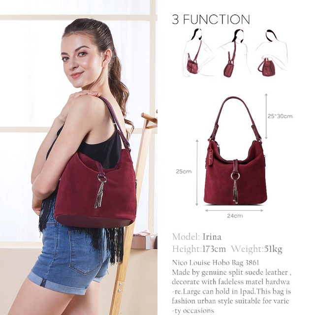 2017 Fashion Women Split Leather Shoulder Bag Female Suede Casual Crossbody handbag Casual Lady Messenger Hobo Top-handle Bags