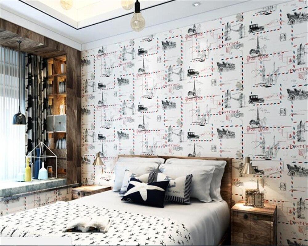 Beibehang behang élégant vent britannique mignon dessin animé papier peint pour enfants chambre salon chambre TV fond 3d mural papier peint