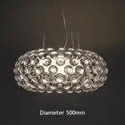 Moderne Woonkamer Acryl RS7 Lamp Hanglampen Armatuur Eetkamer Foscarini Caboche Dia35/50/65 Cm Clear gouden Hanger Lamp - 4