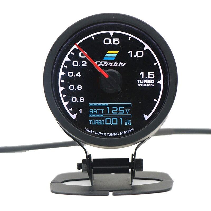 GReddi мульти D/A lcd цифровой дисплей Turbo Boost автомобильный измерительный прибор 2,5 дюймов 60 мм 7 цветов в 1 гоночный метр