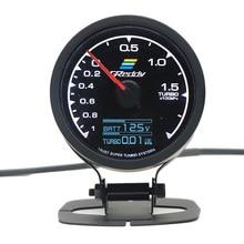 GReddi Multi D/A LCD Digital Display Turbo Boost Gauge Car 2.5 Inch 60mm 7 Color in 1 Racing