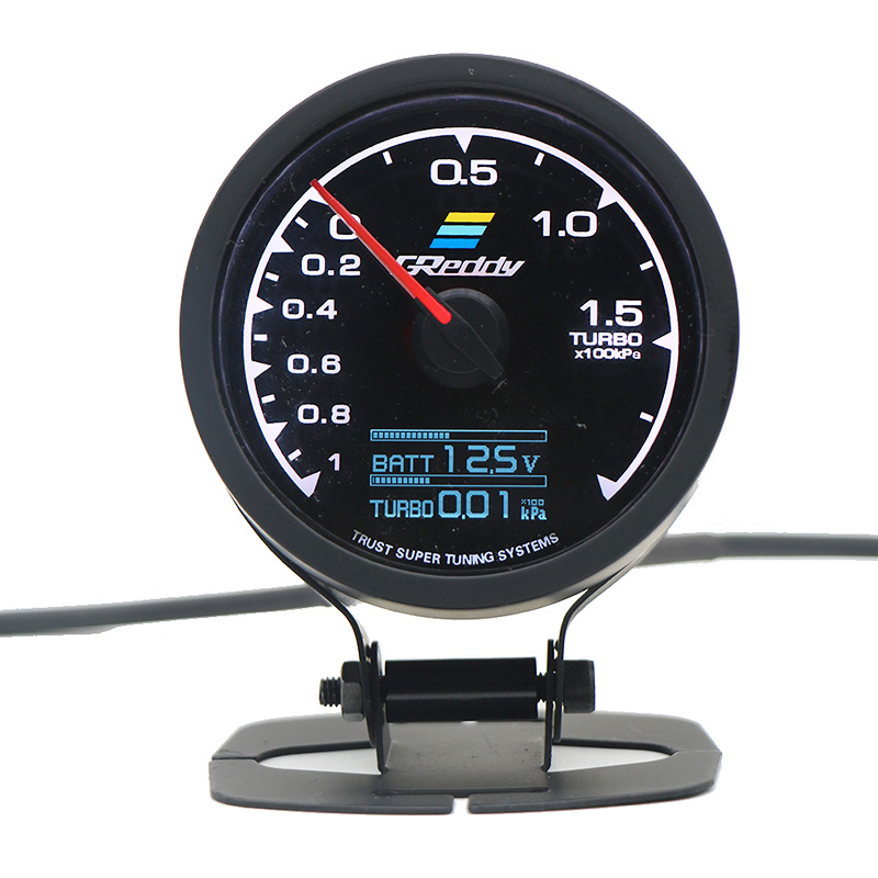 Greddi multi d/a display digital lcd turbo boost gauge carro 2.5 Polegada 60mm 7 cores em 1 medidor de corrida