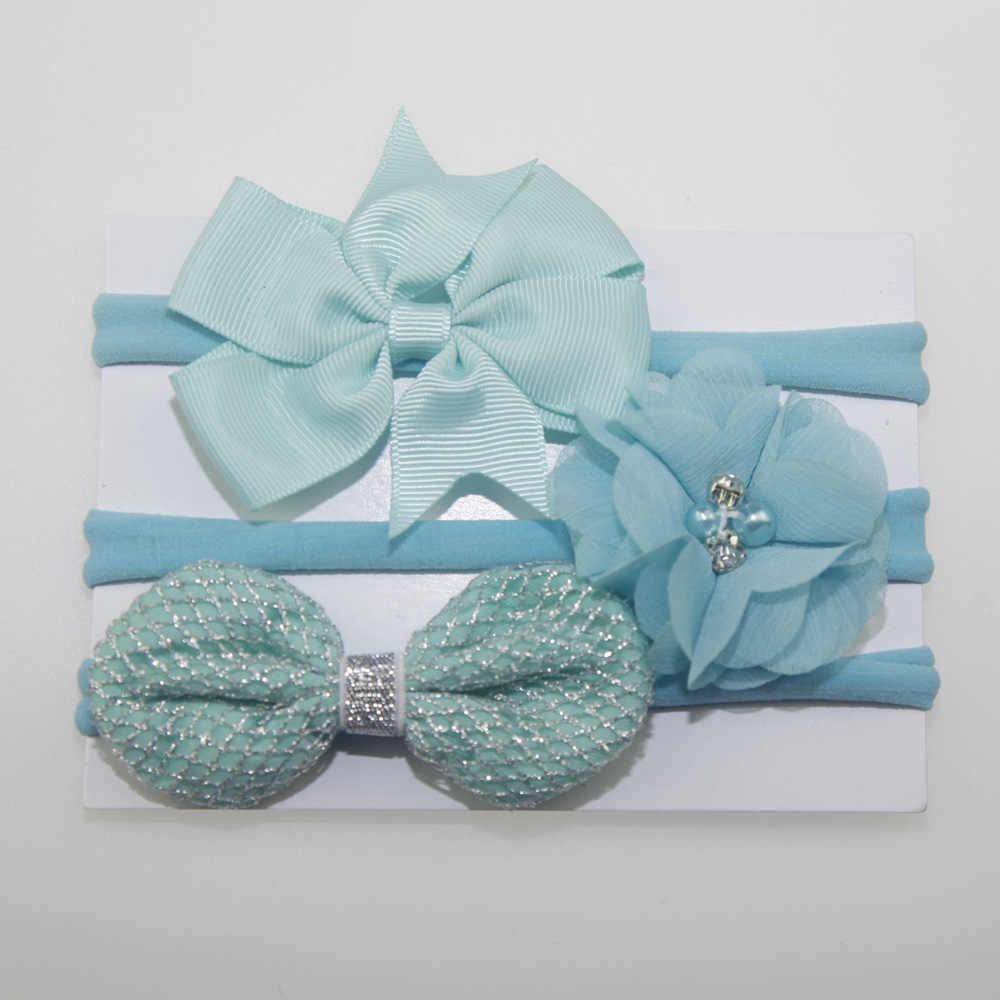 3 ชิ้น/เซ็ตพิมพ์น่ารัก Bow-Knot ผ้าฝ้าย Headbands 2018 ใหม่มาถึง headbands ทารกแรกเกิด Headband