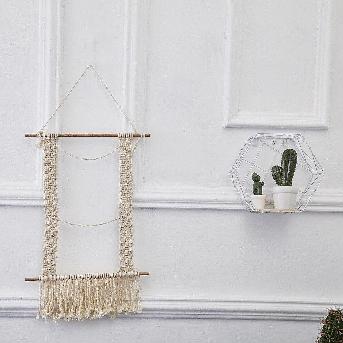 Handmade Hanging Wall Tapestry Macrame Photo Frame Boho ...