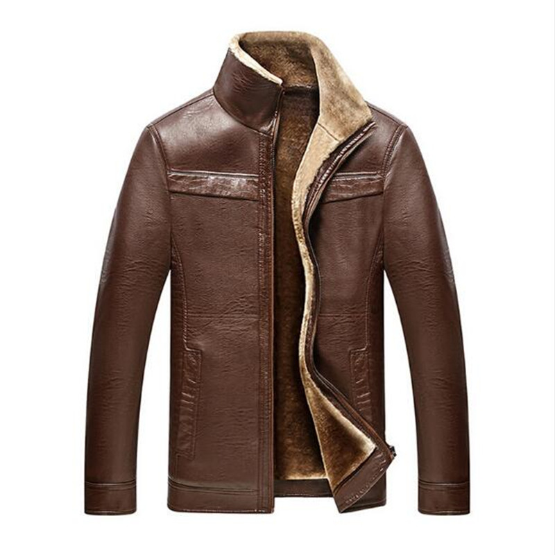 Men's winter coat Men casual thicken velet warm leather jackets mens jackets and coats winter down coat