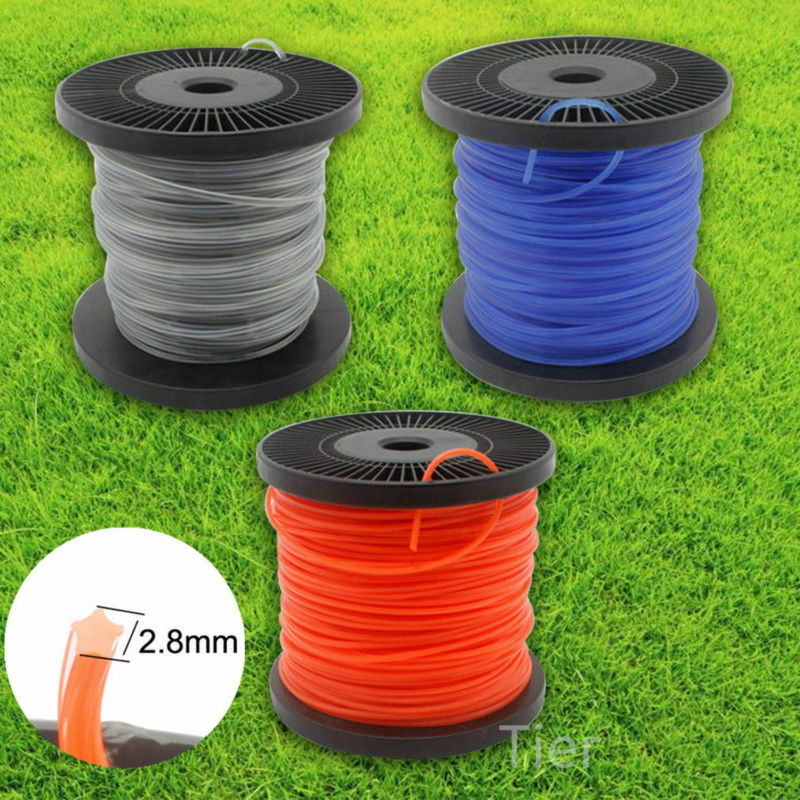 2.4mm/2.8mm/3mm Grass Trimmer Line 100m Strimmer Brushcutter Trimmer Nylon Rope Cord Line Long Round/Square Roll Grass Rope Line