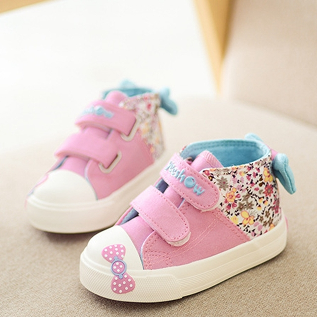 2017 New Spring Girls Shoes Baby Sneakers Size 19 24 Baby Shoes 360