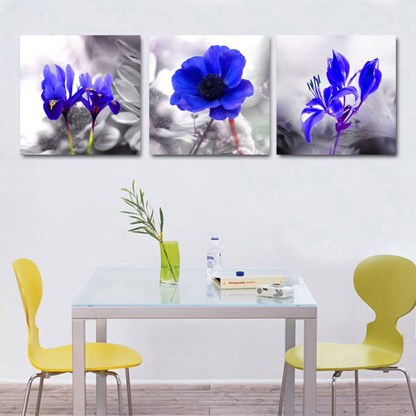 Kitchen home decoration wall modular painting flower decor for Modern home decor for sale