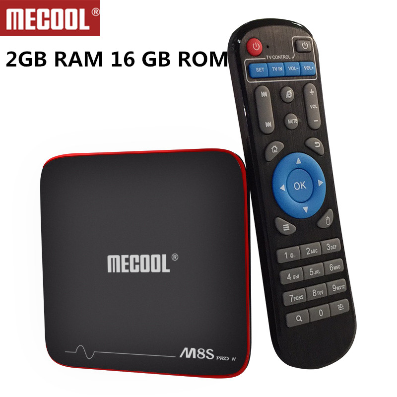 Mecool M8S Pro W Android TV Box Amlogic S905W Quad Core ROM 2GB DDR3 RAM 16GB