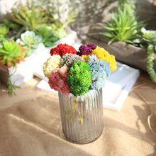 9 Pcs/lot Artificial flower hydrangea fake soft plastic rice fruit succulent flowers forest for wedding home decoration