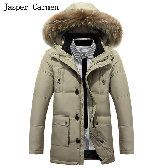 O envio gratuito de 2017 Marca o Inverno dos homens Novos Sólida Longo Para Baixo Parkas Moda jaqueta Casual Casaco de Inverno Homens Jaqueta 225yw
