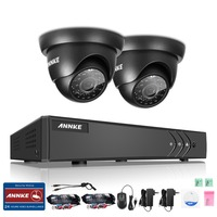 ANNKE 4CH 1080N TVI 5in1 DVR 1500TVL 720P CCTV Video Outdoor Security Camera System Dome Type