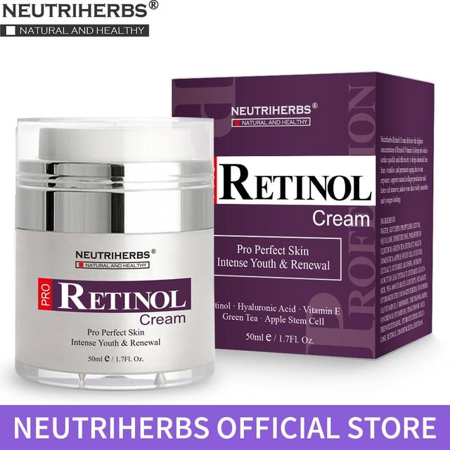 Neutriherbs Retinol увлажняющий крем для лица и области вокруг глаз Уменьшает появление морщин, тонких линий. Лучший дневной и ночной крем