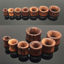 2pcs Fashion Flesh Tunnels Ear Plugs Big Gauge Piercing Expander Brown Rose Wood 8mm – 20mm Piercing Body Jewelry For Men