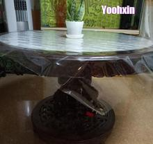 2020 Hot Soft glass square transparent PVC plastic oilcloth tea Table cloth cover waterproof tablecloth Christmas wedding decor