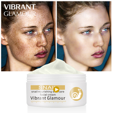 VIBRANT GLAMOUR Repairs Snail Face Cream Remove Wrinkles Acnes Whitening Pigment Spots Brighten Skin Wrinkle Control Oil