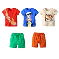 Boys Clothing Children Summer Boys Clothes Cartoon Kids Boy Clothing Set Three T shit+Two Pants Cotton