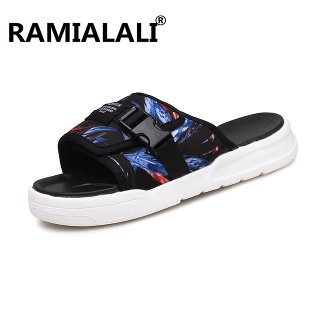 1519a7950c4f3 Ramialali Mens Shoes Men Sandals 2018 Men Summer Shoes Beach Breathable  Buckle Gladiator Sandals For Men Zapatillas Hombre