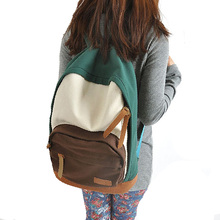 New 2017 New arrived casual women's colorful canvas Plaid backpacks lady student school bags travel shoulder Shoulders package24
