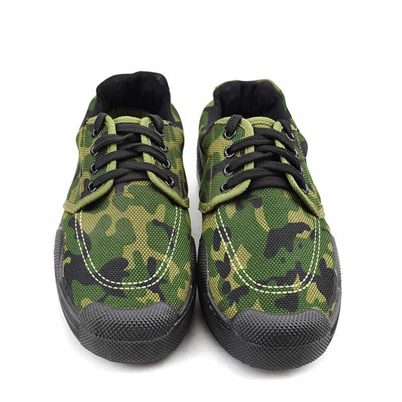 Scarpe da trekking uomini esterni di assicurazione del lavoro degli uomini del camuffamento scarpe di formazione militare piatto casuale scarpe di sicurezza scarpe sportive