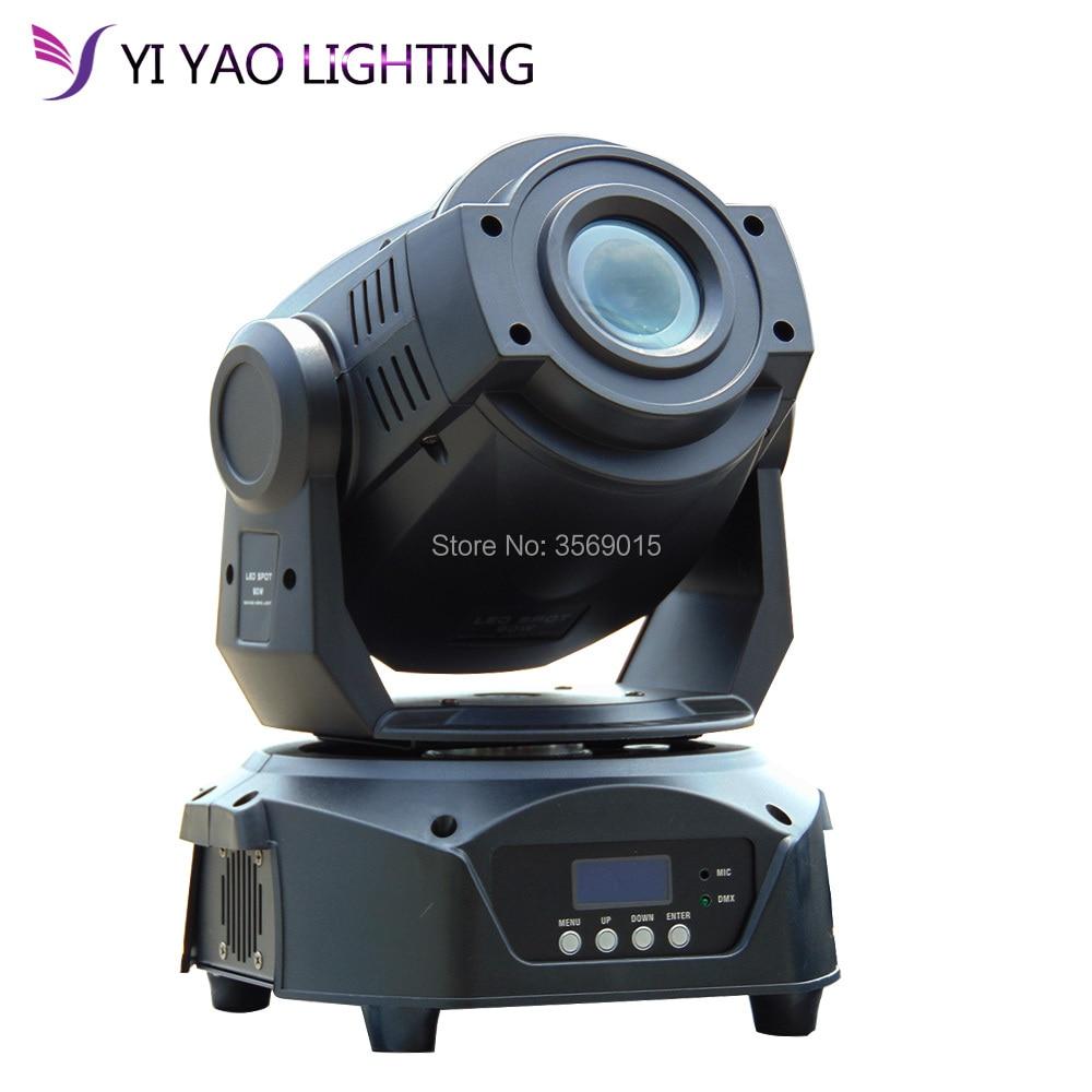 Heißer verkauf 7 farben + 8 gobos 90 watt Led Spot DMX 512 16CH Moving Head Bühne Lichter Fokus 3 facet Prisma Effekt Beleuchtung