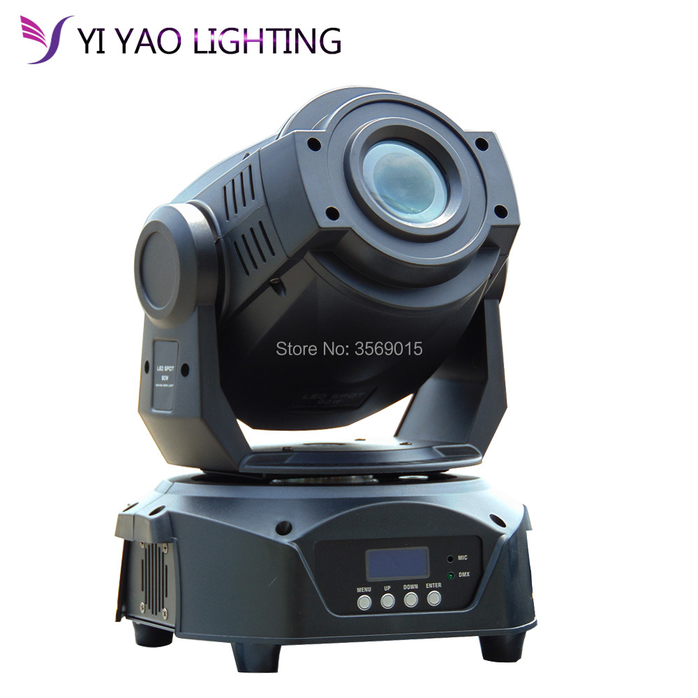 Hot sale 7 colors+8 gobos 90w Led Spot DMX 512 16CH Moving Head Stage Lights Focus 3 Facet Prism Effect Lightings Hot sale 7 colors+8 gobos 90w Led Spot DMX 512 16CH Moving Head Stage Lights Focus 3 Facet Prism Effect Lightings
