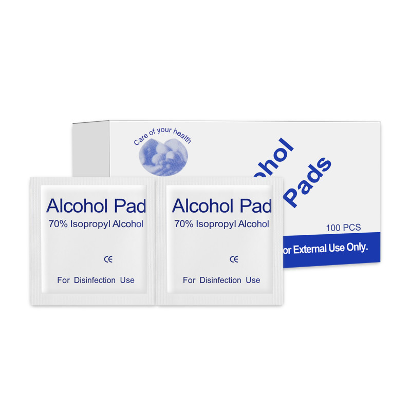 100 Pcs/Box Sterilized Surgical Alcohol Pads Portable Wipes Swab Antiseptic Skin Cleanser For Tattoo Cleaning Products100 Pcs/Box Sterilized Surgical Alcohol Pads Portable Wipes Swab Antiseptic Skin Cleanser For Tattoo Cleaning Products
