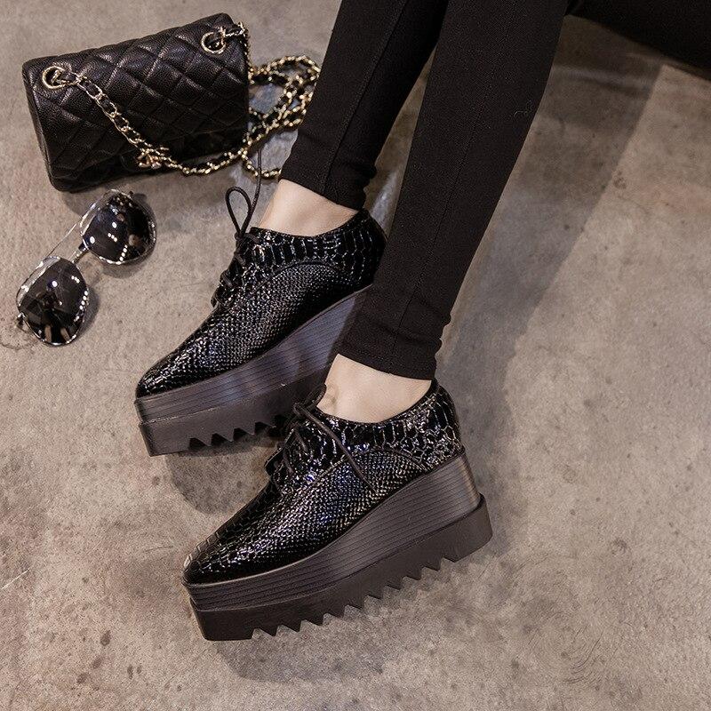 2019 Printemps Oxford Femmes Chaussures En Cuir Verni à