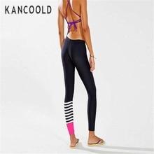 Kancoold Women YOGA Running Pants Dance Cropped Leggings High Waist Stretch Trousers feb24
